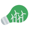 Light bulb and wind turbine inside vector image vector image