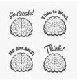 Human brain logo set vector image