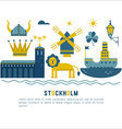 Stockholm travel vector image