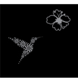 abstract hummingbird vector image