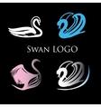 Black Swans Logo Design template vector image