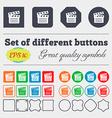 Cinema Clapper icon sign Big set of colorful vector image