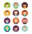 Collection of different round avatars with men vector image
