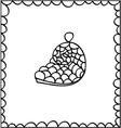 hand drawn decorative seashell design element vector image