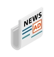 Magazine newspapers with a place for advertising vector image