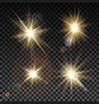 set of lighting sparks on transparent background vector image