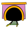 tunnel icon icon cartoon vector image