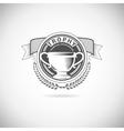 winner logos vector image