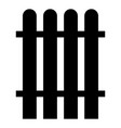 fence the black color icon vector image