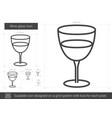 wine glass line icon vector image