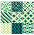 seamless green retro pattern vector image