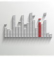 equalizer on white with red strip vector image vector image