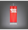 Dollar deal Vertical red flag at the pillar vector image vector image