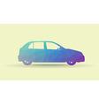Polygon car vector image vector image