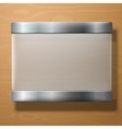 frosted glass plate with metal holders on vector image