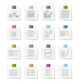database and table formatting icons vector image