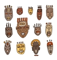 Set of African masks vector image vector image