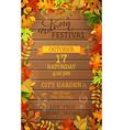 Autumn Festival template vector image