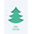 Christmas card with a green background in the vector image