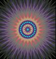 Colorful fractal design background vector image