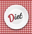 diet plate vector image