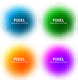 pixel background set vector image
