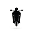 scooter retro icon vector image