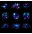 set of shiny mosaic elements vector image