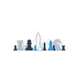Strategy game chess background vector image