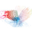 template design for holi festival event vector image