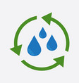 water cycle icon flat vector image