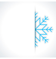 Merry Christmas card and snowflake vector image vector image