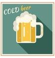 Retro Beer Mug with Foam Symbol Alcohol vector image vector image
