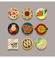 Korean food vector image