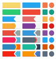 Set of flat buttons vector image vector image