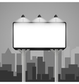 billboard mockup in the city vector image