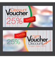 Gift voucher and discount voucher template vector image