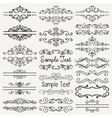 Black Hand Drawn Dividers Frames Swirls vector image