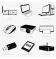 Computer technology vector image