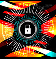 cyber security padlock icon vector image