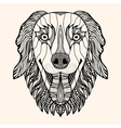 dog with abstract pattern vector image