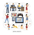 gadgets for everydays composition vector image
