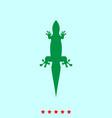 lizard set it is color icon vector image
