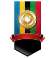 Olympic games golden medal vector image