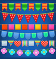 party celebration colorful flags collection vector image