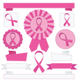 pink awareness ribbons vector image