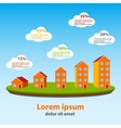 Real estate concept infographics vector image