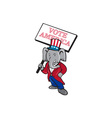 Republican Elephant Mascot Vote America Cartoon vector image