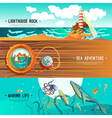 Sea Nautical Banners vector image