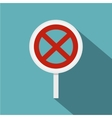 Clearway sign icon flat style vector image